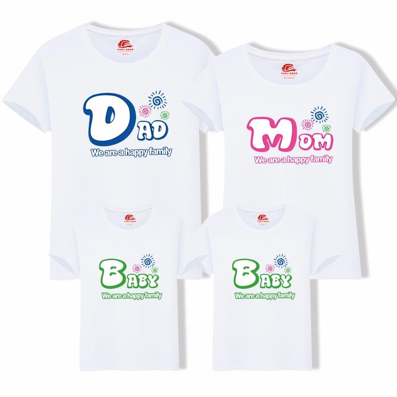 Dad Mom Baby Brief Print Familie Look T-shirt Familie Bijpassende - Kinderkleding - Foto 2