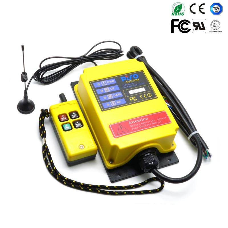 Telecontrol AC36V industrial nice radio remote control AC/DC universal wireless control for crane 1transmitter and 1receiver free shipping rf21 e1b industrial universal wireless radio remote control for overhead crane