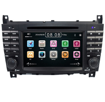7 Inch 2 Din Car DVD Player For For Mercedes-Benz W203 W209vW169 W219 A-Class A160 C-Clas C180 C200 CLK200 CLK350 Radio GPS BT