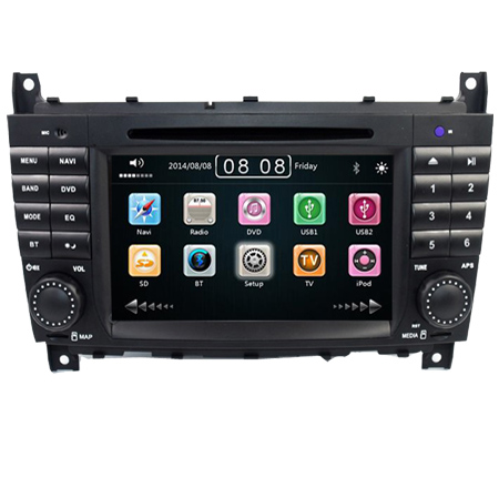 7 Inch 2 Din Car DVD Player For For Mercedes-Benz <font><b>W203</b></font> W209vW169 W219 A-Class A160 C-Clas C180 <font><b>C200</b></font> CLK200 CLK350 Radio GPS BT image