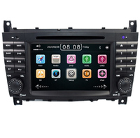 7 Inch 2 Din Car DVD Player For For Mercedes Benz W203 W209vW169 W219 A Class A160 C Clas C180 C200 CLK200 CLK350 Radio GPS BT