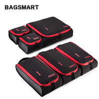 """BAGSMART 6 Pcs Travel Accessories Packing Cubes Luggage Packing Organizers Bag for Shirt Clothes Underwear Fit 24"""" Suitcase"""