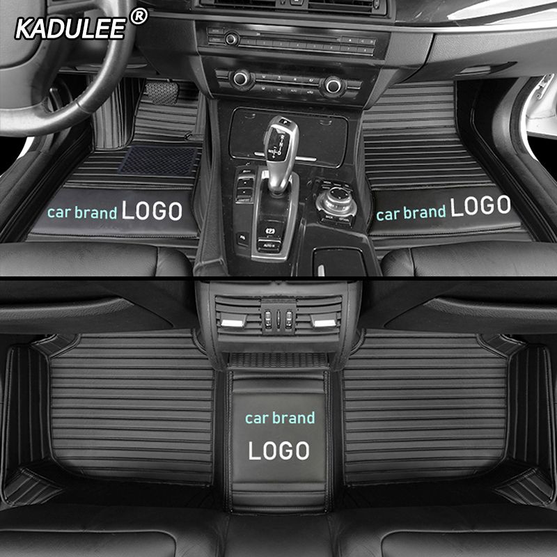 KADULEE car floor mats for audi LOGO audi TT A1 A3 A4 A5 A6 A7 Q3