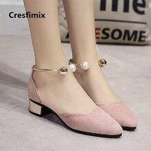 Mulheres bonito rosa confortável salto baixo sapatos de senhora primavera verão deslizamento em sapatos casuais doce confortáveis sapatos de salto alto zapatos de mujer e319