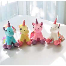 9cm Cute Short-horned Pony Plush Toys Kawaii Bag Backpack Pendant Keychain Stuffed Animals Kids Toys for Children Birthday Gift(China)
