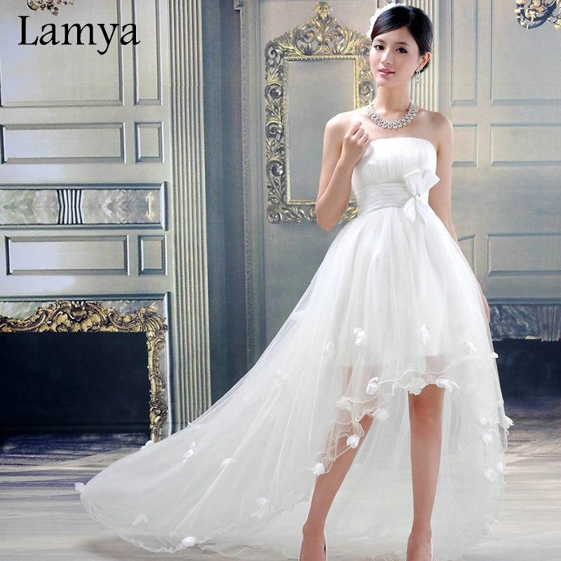 customize high low short beach wedding dress cheap plus size bridal gowns vintage weddings dresses vestidos