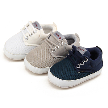Newborn Baby Boy Shoes First Walkers Spring Autumn Baby Boy Soft Sole Shoes Infant Canvas Crib Shoes 0-18 Months 1