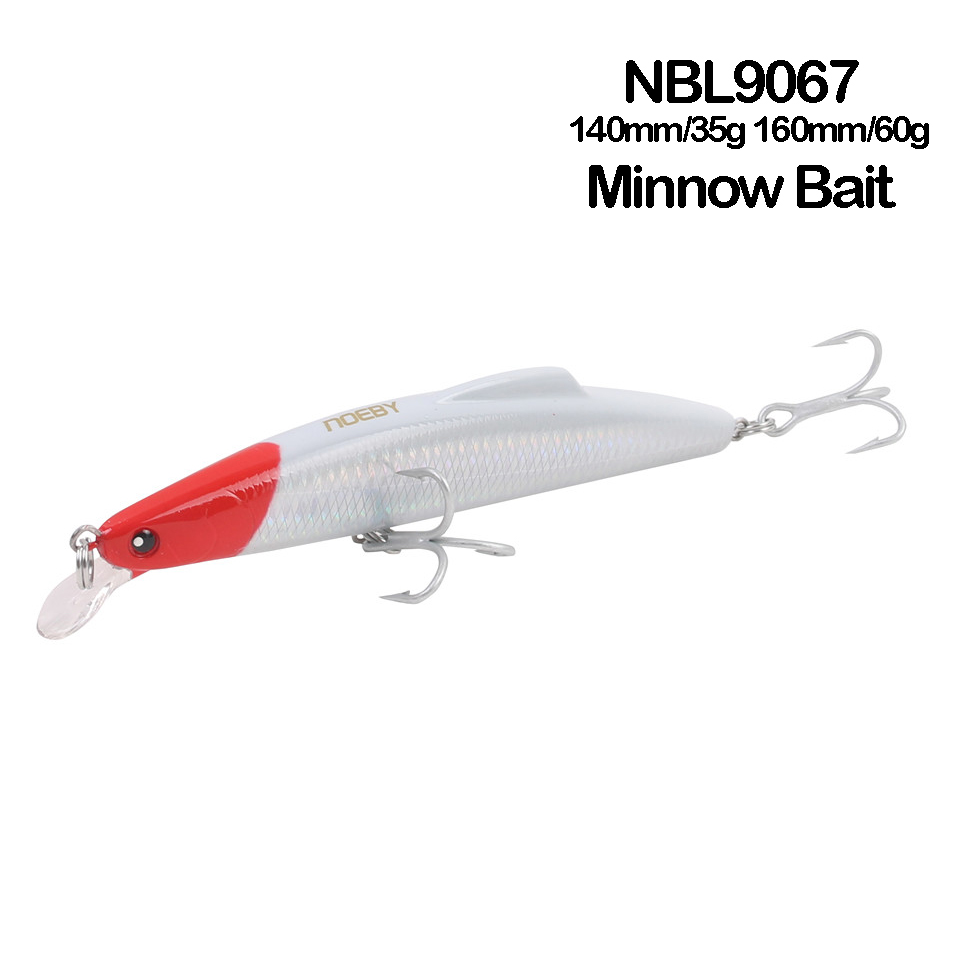 NOEBY NBL9067 Minnow <font><b>140mm</b></font>/160mm Hard Fishing <font><b>Lure</b></font> Sinking 0-1.8m Hard Baits with France VMC hook Leurre Dur Peche image
