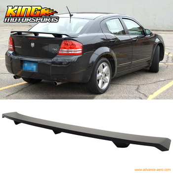 Fit For 08-14 Dodge Avenger ABS Rear Trunk Spoiler Wing Matte black