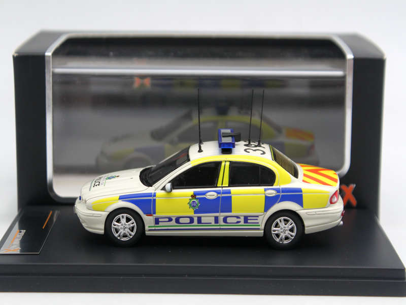1/43 IXO Premium X Jaguar X-Type Merseyside Police 2004 PR0343 Diecasts & toy vehicles Resin Auto Models Toys Car White