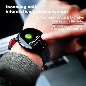 Image 2 - K1 الذكية الفرقة IP68 مقاوم للماء معدل ضربات القلب ضغط الدم رصد IPS كامل شاشة تعمل باللمس Smartwatch ل أندرويد IOS سوار