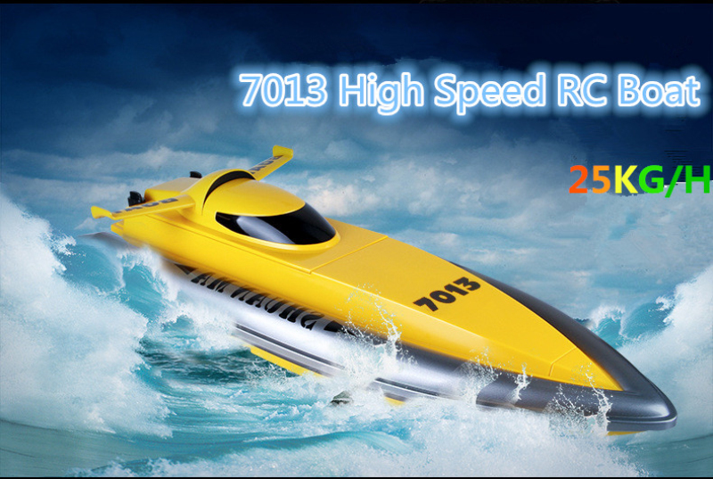Water toys DH-7013 42.6cm rc Oversized Boats Ship 2.4G double motors drive high speed remote control racing boat Electric toy child hand boats child boat water toys bumper boat hand boats water