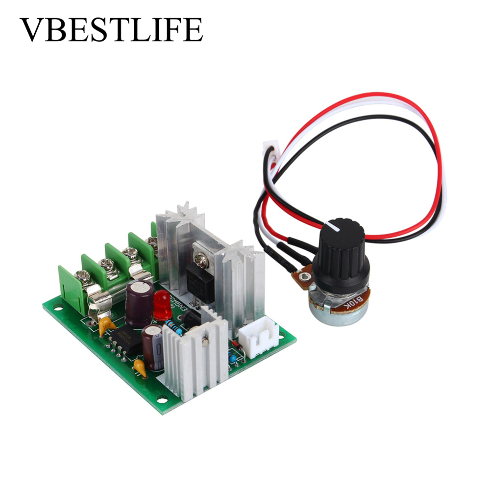Dc Pwm Dc Motor Speed Controller 10v-30v Ccm5 Pulse Width Motor Speed Regulator 120w Universal Controller Switch With Fuse Beautiful In Colour Motor Controller Motors & Parts