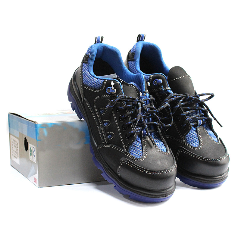 Safety sports work shoes Heat resistant oil scrub leather Labor safety shoes Anti smashing anti static