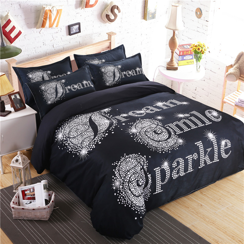 Luxury Sparkle Dream Duvet Cover Quilt Cover Bedding Set With Pillowcases
