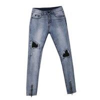ITFABS Newest Arrivals Fashion Men Ripped Slimfit Skinny Jeans Stretch Denim Distress Frayed Biker Stylish Street