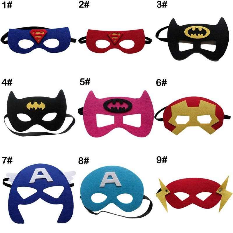 10 Buah Anak Partai Prop Avengers Satin Super Hero Superman Batman Spiderman Thor Hulk Ironman Masker dengan Jubah Cape