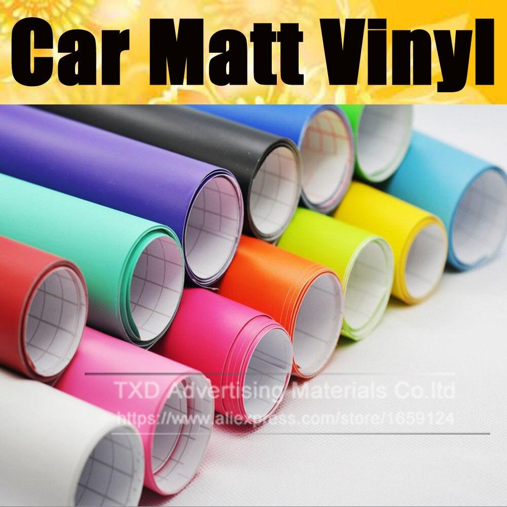 Good quality Matte Black Car Auto Body Sticker Decal Self Adhesive Wrapping Vinyl Wrap Sheet matt vinyl 102030405060x152cm
