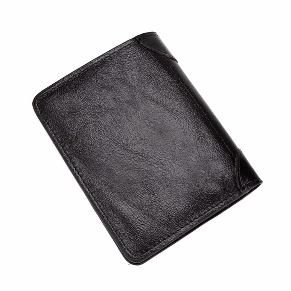 couro carteira de couro curto Color : Black / Brown