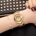 CRRJU Luxury Women Watch Marcas Famosas de Design de Moda Pulseira de Ouro Relógios Ladies Mulheres Relógios De Pulso Relogio Femininos