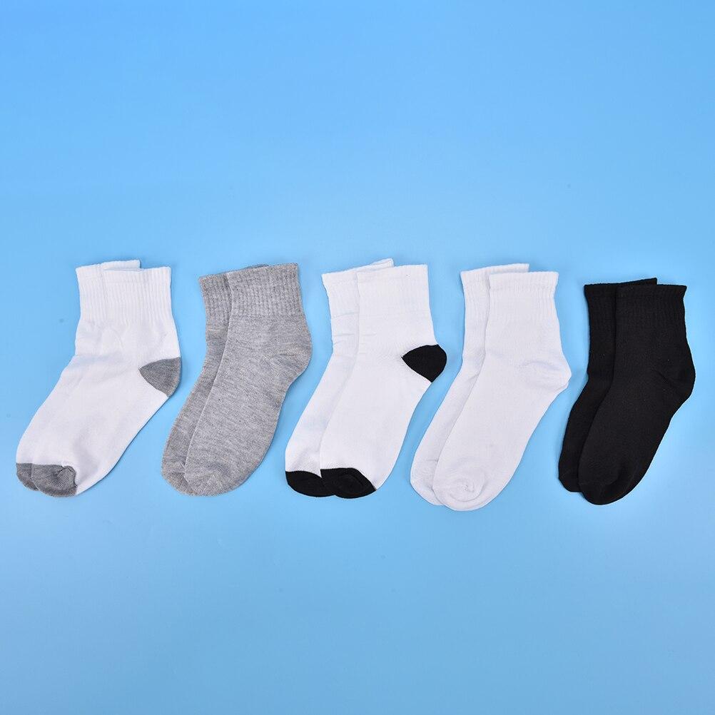 Summer Socks Men Male Business Cotton Blend Breathable Non-slip Socks Boy Casual Gray Black White Socks