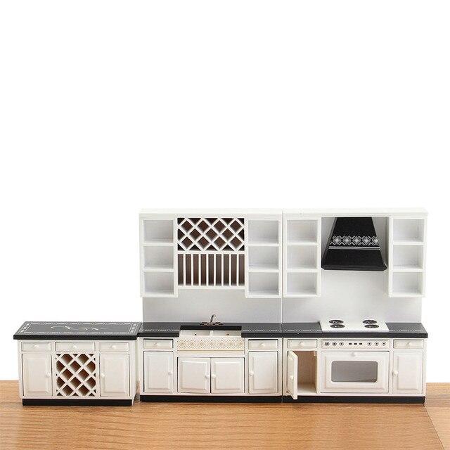 Kit DIY Dollhouse Miniatura Muebles de Cocina Armario Gabinete De ...