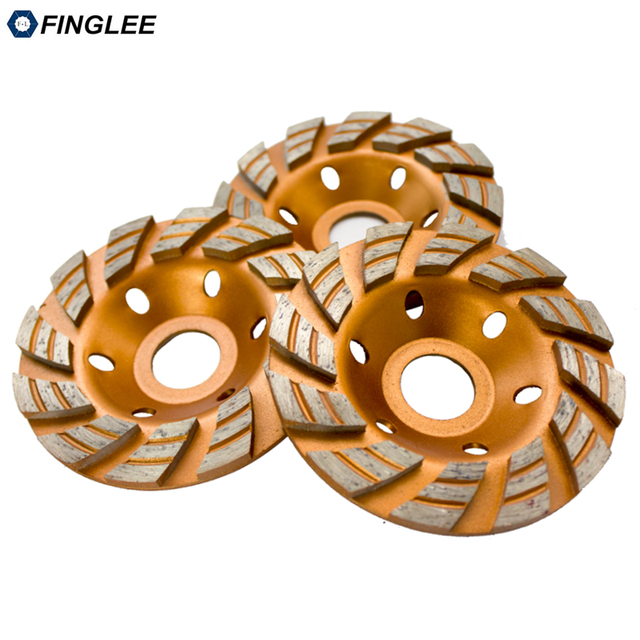 FINGLEE 4inch/100mm inner 22.23 mm Diamond Wheel Disc Bowl Grinding Cup Granite Polishing Tool Marble Tools for Stone,Concrete 1