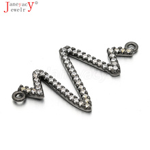 Jewelry Supplies DIY Copper Zircon Connector CZ Accessories Women Natural Stone Crystal Pearls Beading Jewelry Making L33*W18mm цены онлайн