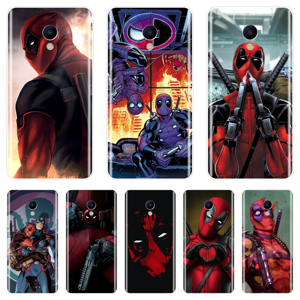<font><b>Phone</b></font> <font><b>Case</b></font> Silicone For Meizu M2 M3 M5 M6 Note <font><b>Marvel</b></font> SuperHero Deadpool Back Cover For Meizu M2 M3 M3S M5 M5C M5S M6 M6S M6T image