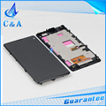 1 peça testado frete grátis parte substituição tela de 4.3 polegada para sony xperia z1 mini z1 compact d5503 lcd display + tela de toque + quadro