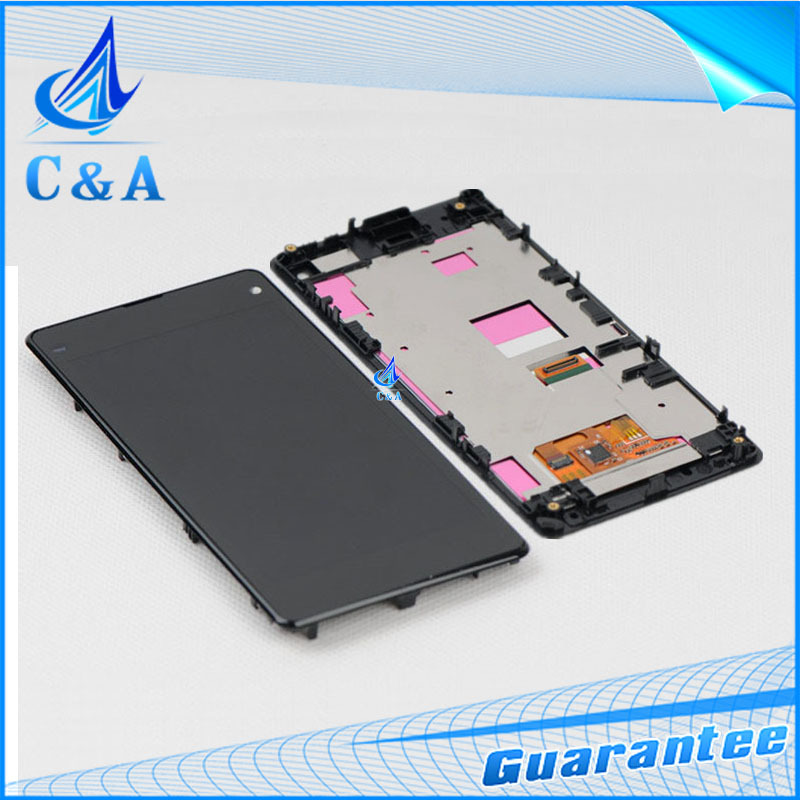 1 piece tested free shipping replacement part 4.3 inch screen for Sony Xperia Z1 mini Z1 compact D5503 lcd display+ touch+frame