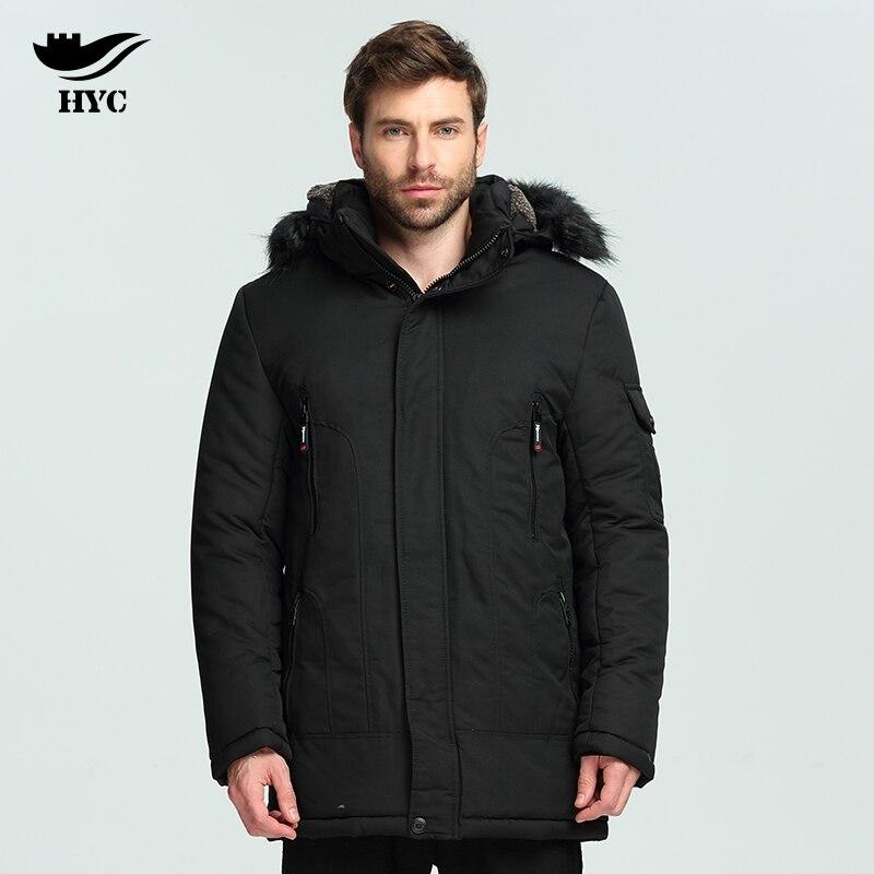 HAI YU CHENG Winter Coat Male Jacket Men Parka Coat Male Wadded Trench Coats Men Windbreaker Plus Size Parka Mens Winter Coat