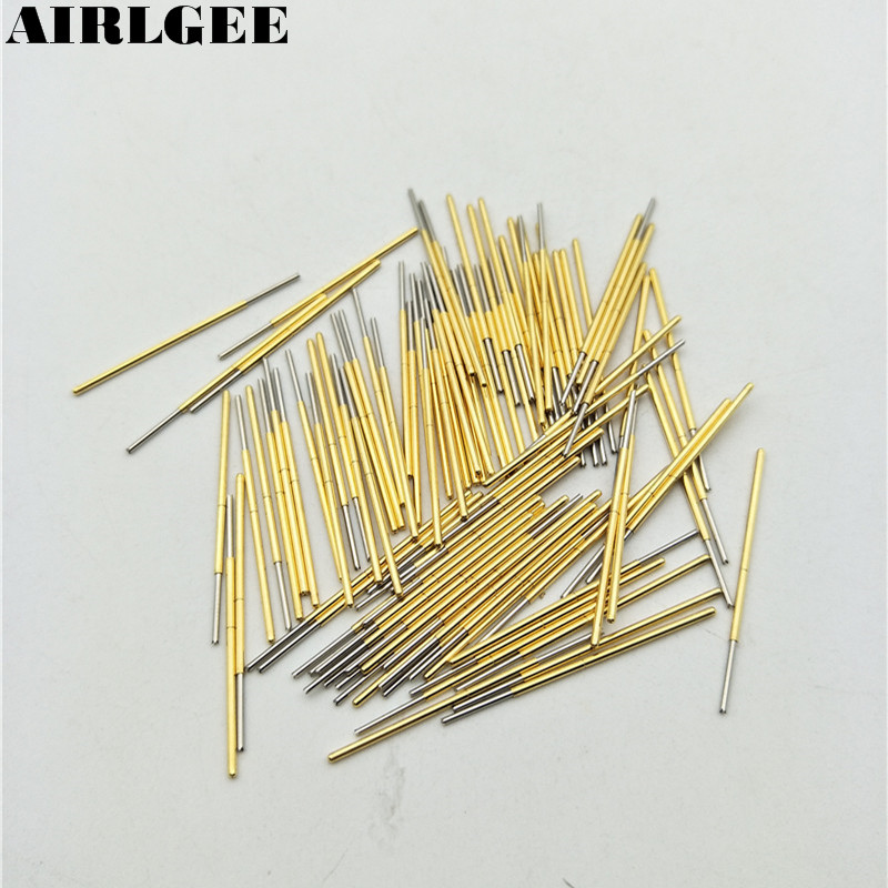 цена на 100 Pcs PL75-Q1 1.3mm 4-Point Claw Tip Spring PCB Testing Contact Probes Pin Free shipping