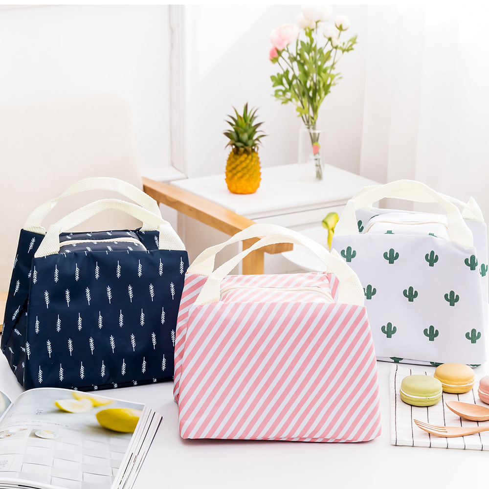 MODYCON New Insulated Oxford Thermal Lunch Bag Kids School Fashion Oxford Food Storage Bag Picnic Container Tote Bag Cases 1PC