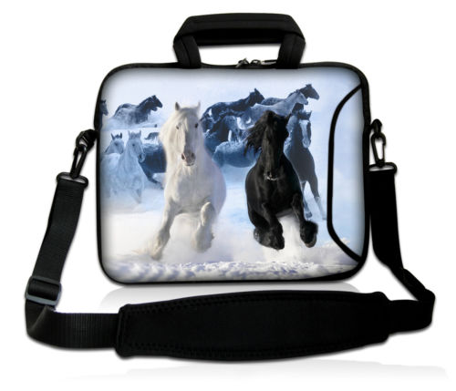 Running Horses Laptop Sleeve 11 12 13 15 Inch Laptop Shoulder Bag For Macbook Air Pro 13 Women Case Cover Computer Notebook Bag