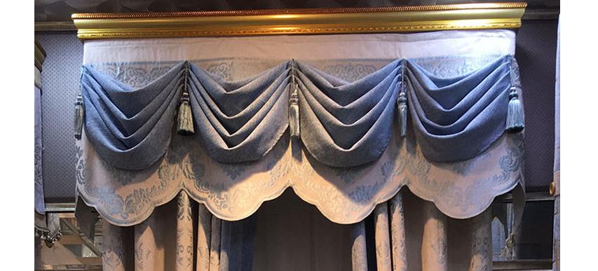 New European Chenille Valance W150cm Curtains for Living Dining Room Bedroom Blackout Curtains