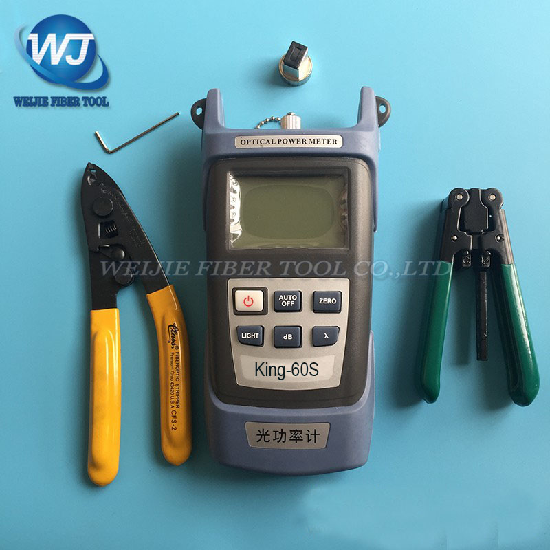 4PCS FTTH Outdoor cable strippers+CFS-2 Fiber stripping pliers+King-60S Fiber optical power meter4PCS FTTH Outdoor cable strippers+CFS-2 Fiber stripping pliers+King-60S Fiber optical power meter
