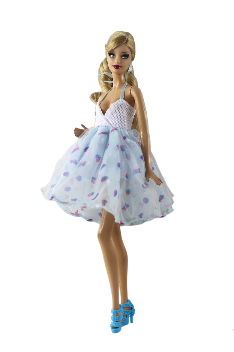 Fashion Dress Clothes Outfits Set For Barbie Doll Clothes Accessories Play House Dressing Up Costume Kids Toys