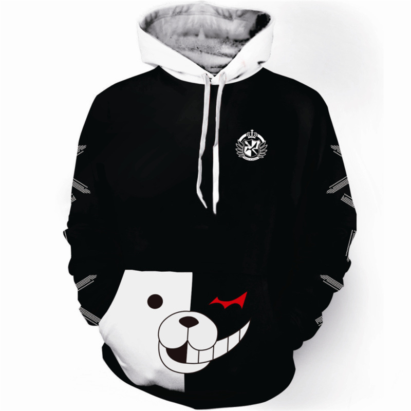 NEW broken projectile Black and white bear anime sweater adult couple costume two yuan around Christmas Halloween costumes image