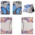 XX Newest butterfly Flower Stand  PU Leather Cases For Samsung Galaxy Tab A 9.7 SM T550 T551 T555 T555C Tablet Cover Card Holder