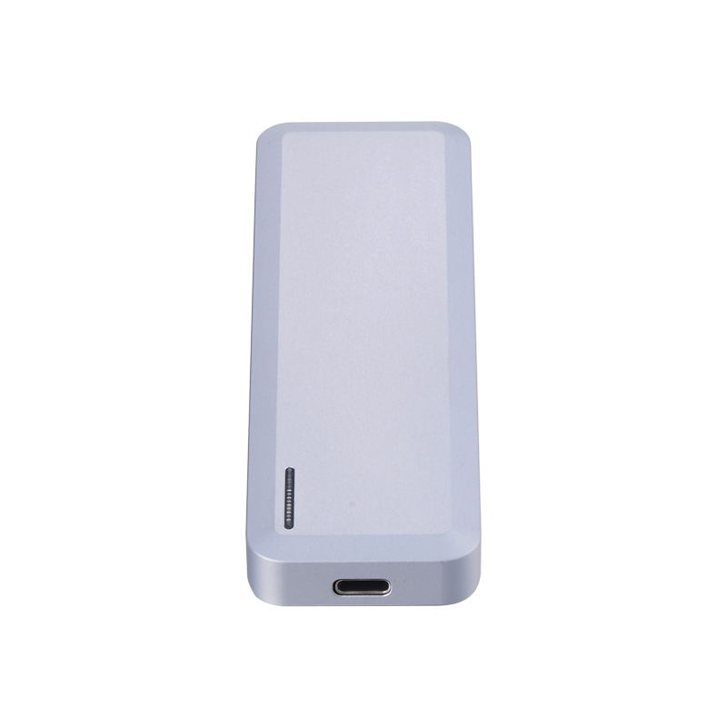 Single bay M2 ngff to Type c USB3.1 external hdd enclosure support 2242 2260 2280 ngff card with Aluminum Magnesium Alloy