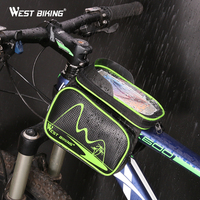 WEST BIKING Waterproof Bike Bag Double IPouch Bicycle Frame Front Head Top Tube Cycling For 5