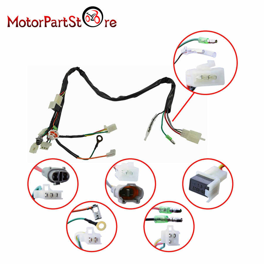 hight resolution of  for yamaha pw50 wiring harness ignition switch cdi unit magneto stator assembly 15