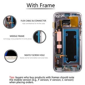 Image 4 - Super AMOLEDสำหรับSAMSUNG Galaxy S7 จอแสดงผลLCDหน้าจอสัมผัสDigitizerกรอบสำหรับSAMSUNG S7 จอแสดงผลG930 G930F LCDจอแสดงผล