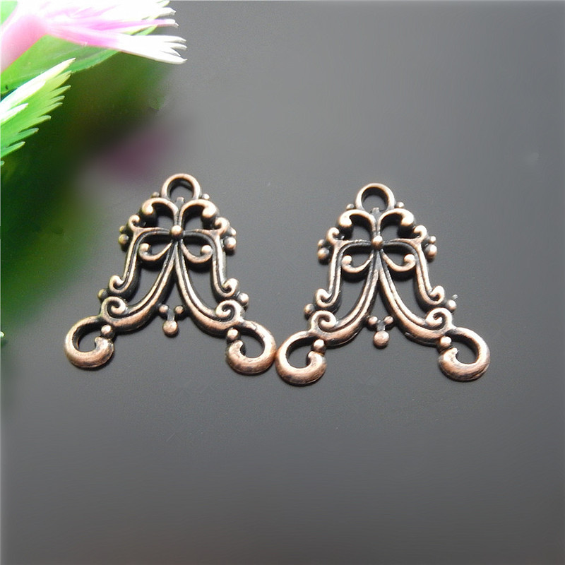 20pcs Antique Copper Irregular Shape Connectors Jewelry Pendants Charms Finding Jewelry Making Key Chain Accessary 20*20*2m