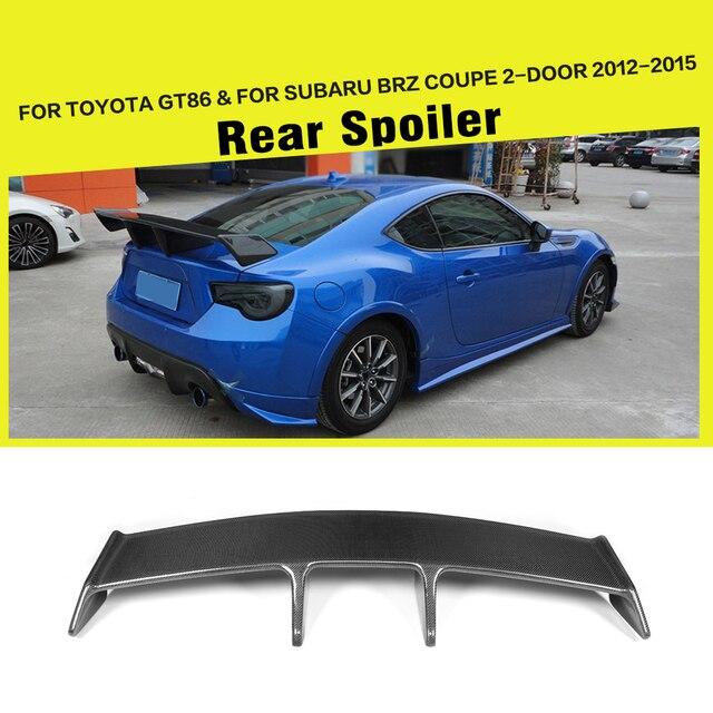 Car Style Carbon Fiber Racing Rear Trunk Boot Lip Spoiler For Subaru Brz Coupe 2