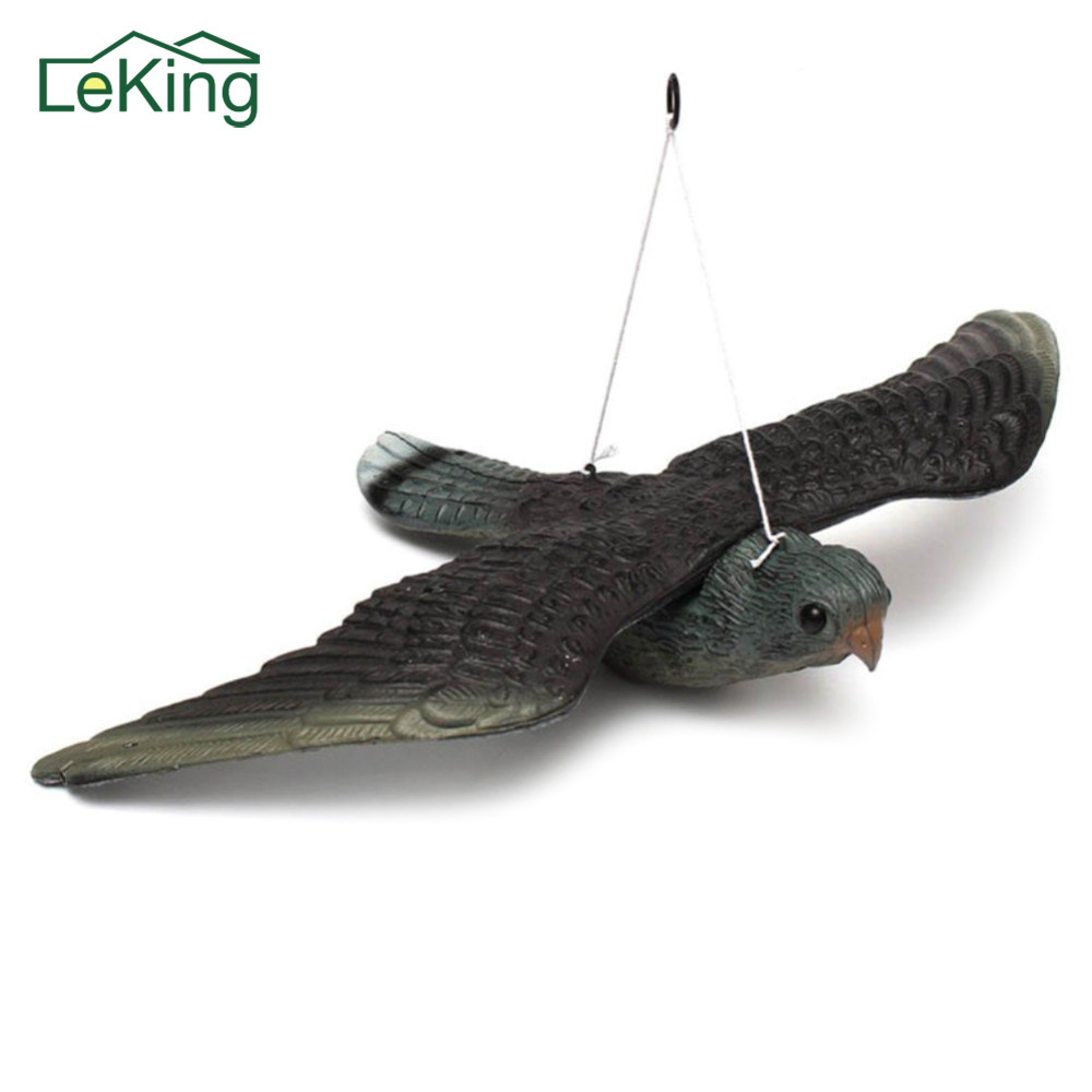 Artificial Simulation Lifelike Crafts Owl Garden Decoration Hunting Bait Large Birds Target Practice Tool with Wings Repeller