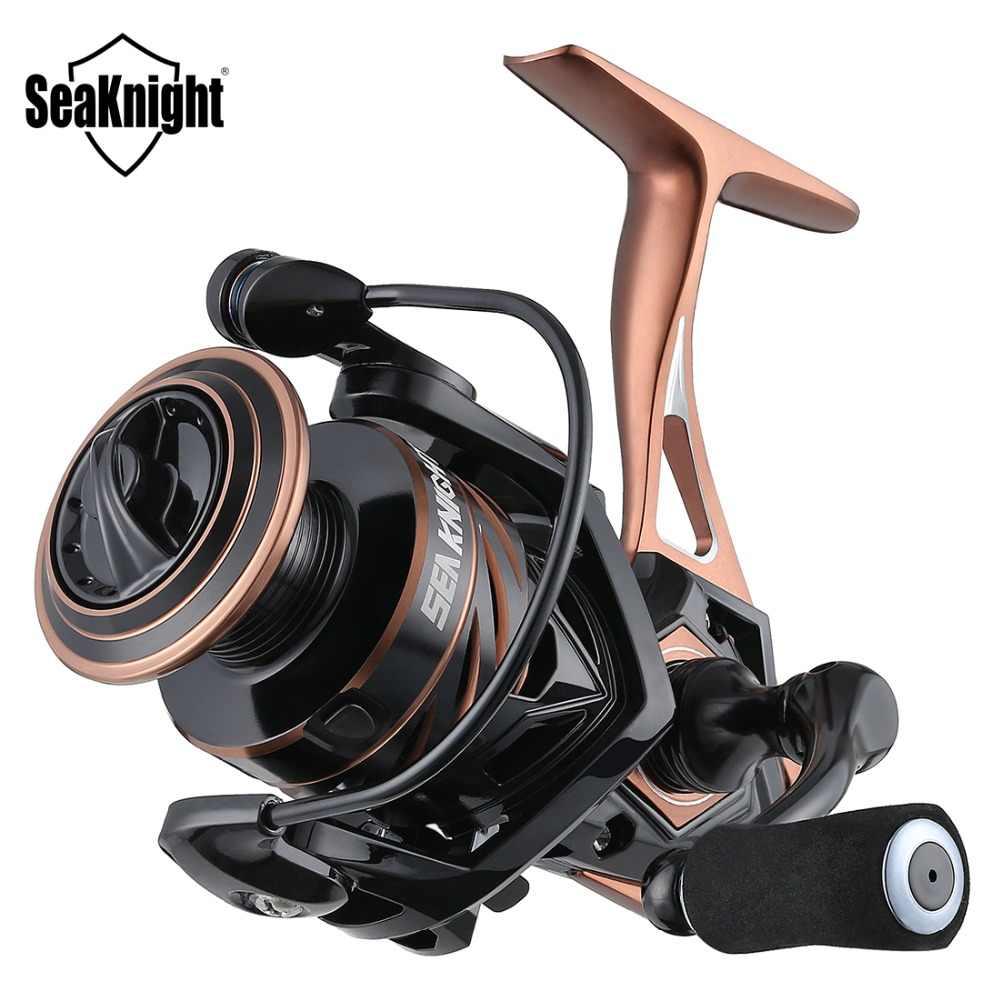 SeaKnight NAGA II 5.2: 1 moulinet de pêche à roue rotative 2500S 2000 3000 4000 5000 métal corps en Fiber de carbone glisser 9-15KG moulinet de pêche