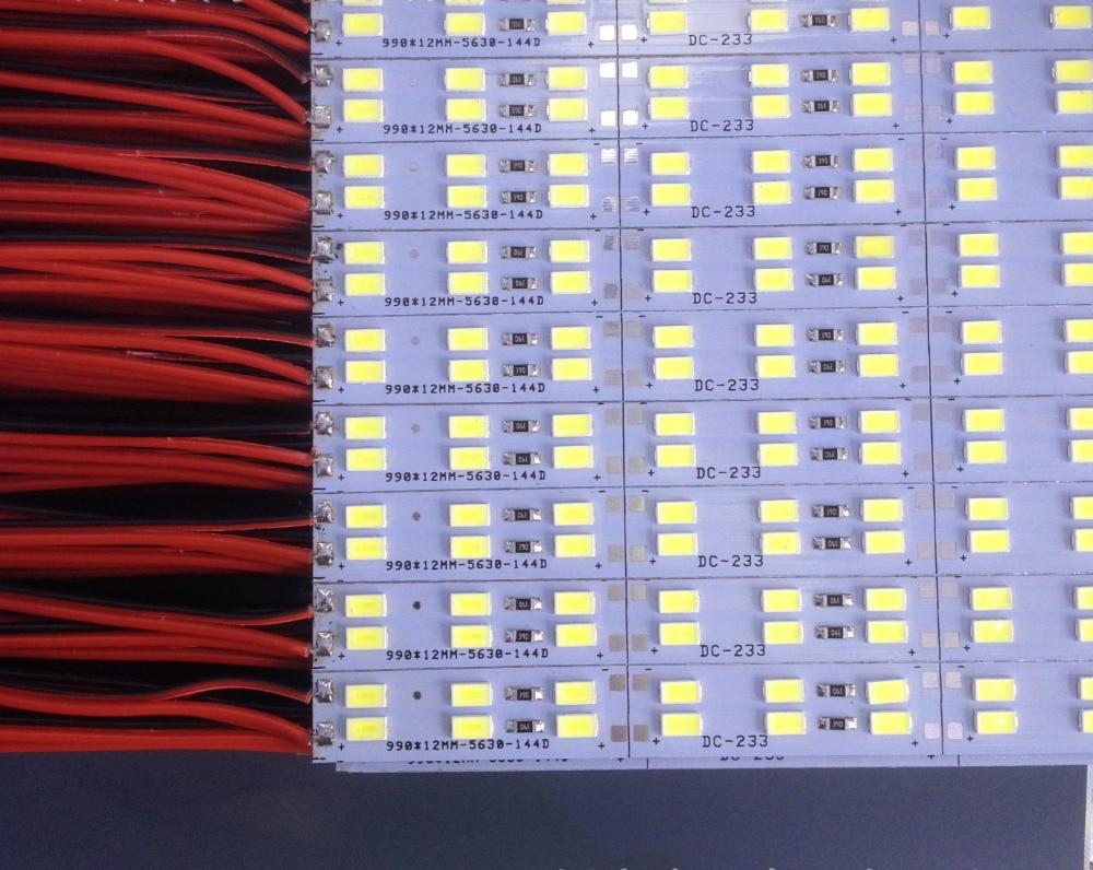 100pcs/lot 100cm LED double line hard strip bar light 12v 144pcs LED/M 5630/5730strip bar for jewelry counter,cabinet