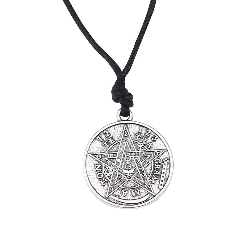 2pcs Antique Silver Large Tetragrammaton Pentagram Pentacle Wicca Pagan Charms